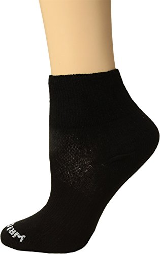 Wrightsock Men's Coolmesh II Quarter Single Socks, Black, X-Sock Size:10-13/Shoe Size: (Wrightsock Double Layer Running Quarter)