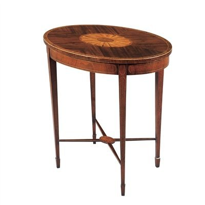 Amazon Com Maitland Smith Oval Inlaid Occasional Table