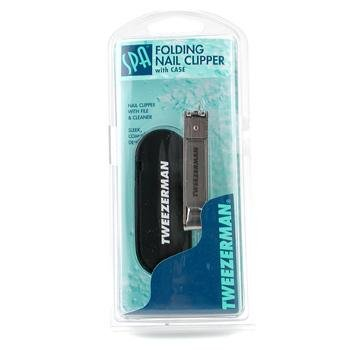 Tweezerman Nail Care, - Folding Nail Clipper for Women