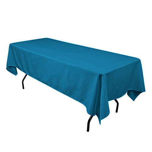 SilkLove Tablecloth - 60 x 102 Inch -Caribbean-Rectangular Polyester Table Cloth, Wrinkle,Stain Resistant - Great for Buffet Table, Parties, Holiday Dinner & -