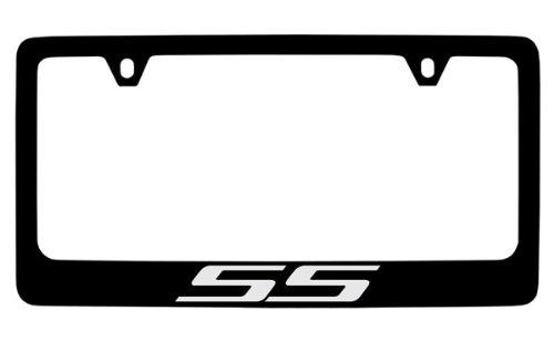 Chevrolet SS Super Sport Black Coated Metal License Plate Frame Holder