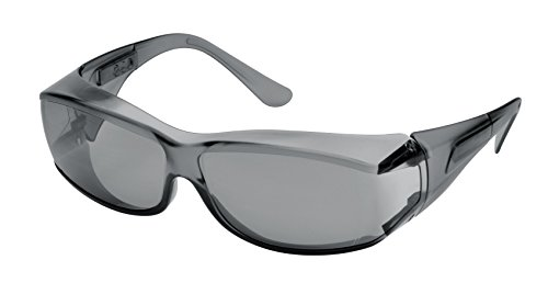Elvex SG-57G Ovr-Specs III Safety Glasses, One Size, Grey