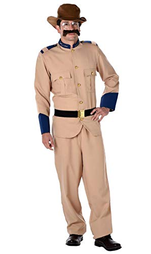 Costume Culture Men's Teddy Roosevelt Adult Extra Large, tan ()