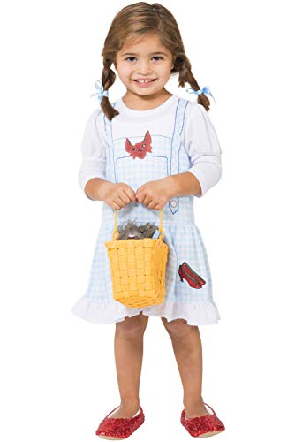 INTIMO Little Girls Wizard of Oz Dorothy Costume Fantasy Nightgown with Ruby Slippers (3T)