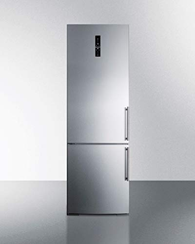 Summit FFBF249SSIMLHD 24 Inch Wide 11.6 Cu. Ft. Capacity Energy Star Certified Free Standing Refrigerator with ZeroZone Deli Drawer ()