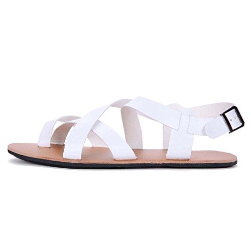 ZXCV Zapatos al aire libre Sandalias hombres playa zapatos jóvenes casual Cool zapatillas hombres moda marea zapatos Blanco