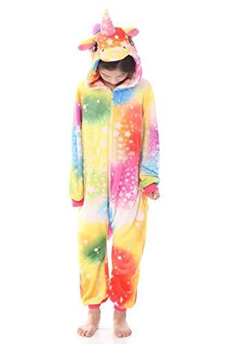 (JYUAN Kids Soft Unicorn Onesie Animal Pajamas Halloween Cosplay Costume Sleepwear Gift for Girls and)