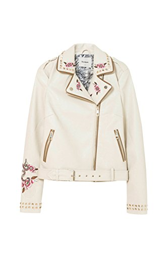 Desigual Giacca - Mika Size 42 Donna Ecopelle Beige