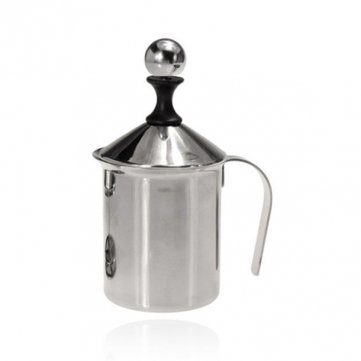 photo Wallpaper of Souked-Souked 400ML Stainless Steel Pump Milk Frother Coffee Creamer Double Froth-