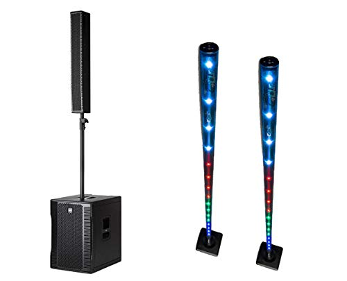 (RCF Evox 12 Portable PA Active Powered Speaker +2x CHAUVET DJ Freedom Stick)