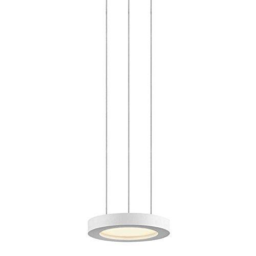 Sonneman Chromaglo 7'' Wide White LED Pendant Light by Sonneman