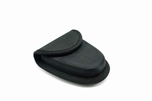 UZI CUFFCASE Nylon Reinforced Covered Handcuff Hidden Cuff Case with Metal Pocket Clip snap Close and Key Holder, Black