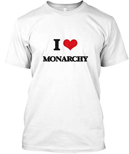 (I Love Monarchy S - White Tshirt - Hanes Tagless Tee)