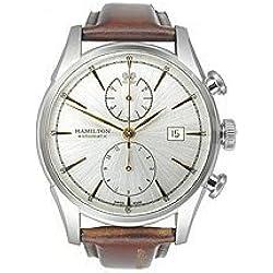Men's Hamilton Spirit Of Liberty Auto Chrono Leather Strap Watch
