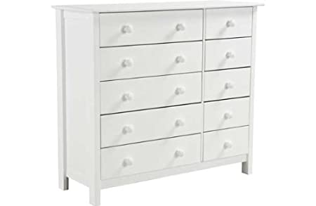 Scandinavia 5 5 drawer chest white