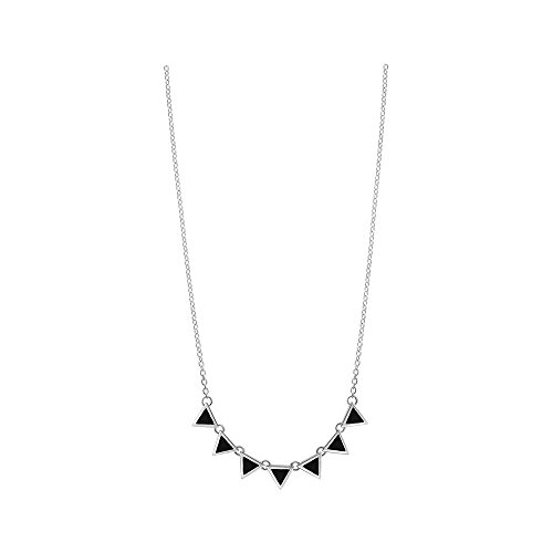 Onyx Triangle Pendant - Boma Jewelry Sterling Silver Onyx Triangle Necklace, 18 Inches