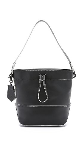 ZAC Zac Posen Women's Eartha Envelope Drawstring Bucket Bag, Black, One Size
