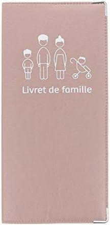 Funda para Libro de Familia Beige Rosa, fabricación Francesa, Piel sintética, portadocumentos, Refuerzo de Metal: Amazon.es: Equipaje