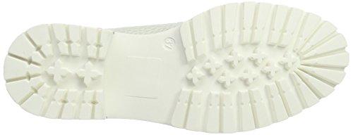 Stokton Damen Biker Boots Weiß (Bianco/Naturale)