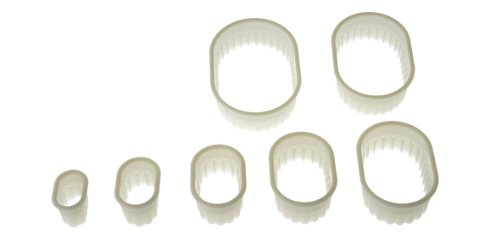 Silikomart Wonder Cakes Collection Oval Nesting Fluted Nylon Dough Cutters, Set of -