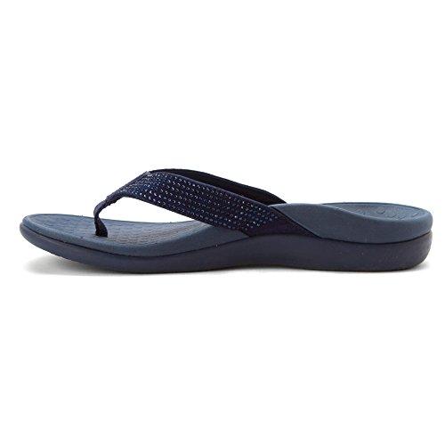 Womens scuro tanga Tide con Sandalo US blu Strass scarpe 5 OpfHxwaO