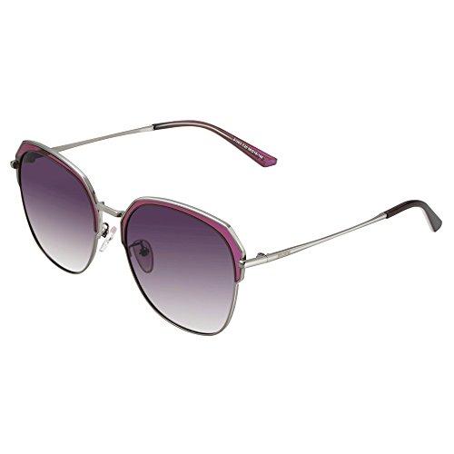 JOJEN Fashion Cateye Polarized Sunglasses for Women Metal&TR90 Frame JE015(Purple Frame Purple Lens)