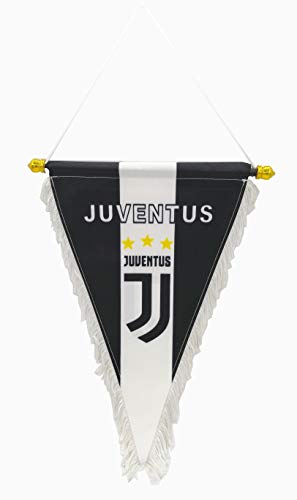 zxtzqw Football Club Fans FC Scarf Hang up a Flag Triangle Flag Bag Glass car Stickers Phone Chain (Triangle Flag-Juventus) (Juventus Car Accessories)