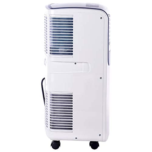 Honeywell Compact Portable Air Conditioner with Dehumidifier and Fan for Rooms Up to 350 Sq. Ft. in White/Blue, 8,000 BTU,
