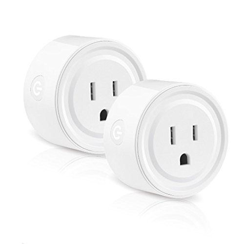Wifi Smart Plug works with Alexa, Mini Smart Outlet Echo & Echo Plug, Google Home, Smart Home Devices, No Hub Required Wifi Mini Socket, Wifi Remote Socket Control Your Devices from Anywhere (2 Pack) by EZH