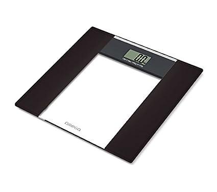 Omega OBS615 Báscula Personal electrónica Rectángulo Negro, Color Blanco - Báscula de baño (LCD