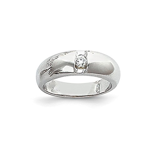 1/3 CT 14k White Gold AA Diamond Men's Band. 0.3 ctw. (Channel Band Diamond Aa Mens)