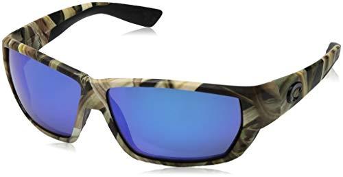 Costa Del Mar Tuna Alley Sunglasses, Tortoise, Blue Mirror 580 Glass Lens from Costa Del Mar
