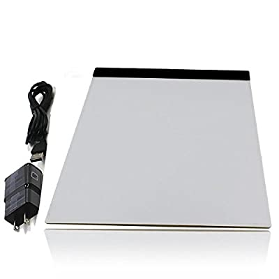 Uriver A4 Led Light Board Table Pad Stencil Pad Ultra Thin Tattoo Drawing Tracing Board