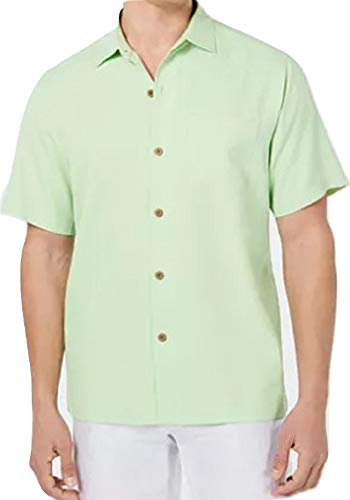 Tommy Bahama Micro Diamond Silk Camp Shirt (Color: Glowing Green, Size XXL)