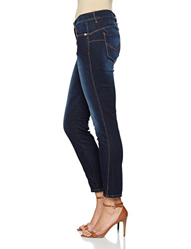 Amber Wash Jean HIS Dark Advanced Blue Femme Skinny Bleu UqwF1