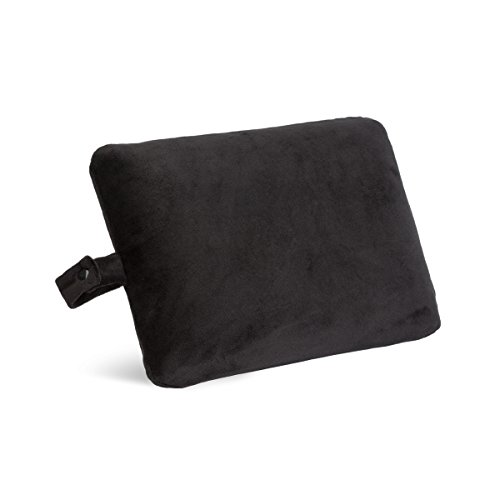 World's Best Cushion Soft Memory Foam Rectangle Pillow, Black,
