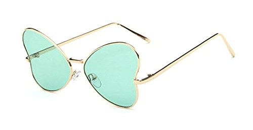 Toping Fine new butterfly sunglasses women fashion glasses metal designer pink yellow gold tinted sunglasses cheap female PARTY,ClearGreen,50Centimeters