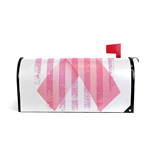 Magnetic Mailbox Cover Breast Cancer Hope Fight Cure Wrap- Standard Size 20.8