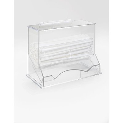 Cal-Mil 293 Classic Straw Stir Stick Organizer, 5.25'' Length x 10.25'' Width x 8.25'' Height, Clear by Cal Mil