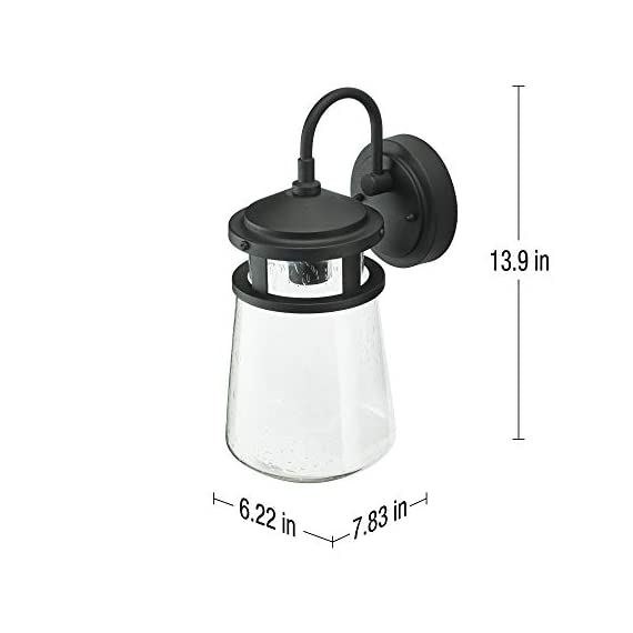 "Home Luminaire 31676 Montana Outdoor Wall Lantern, Black - Add some seaside flair to your outdoor space Use it to light up your front porch, back deck, or even your driveway Package dimensions: 9.05"" L x 9.05"" W x 19.68"" H - patio, outdoor-lights, outdoor-decor - 314%2Bdq2GQSL. SS570  -"