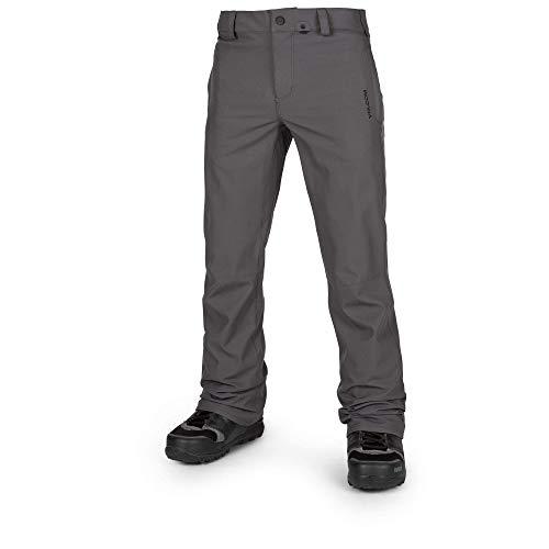 Vintage Mens Snowboard Boots - Volcom Men's Klocker Slim Form fit Snow Pant, Vintage Black, Large