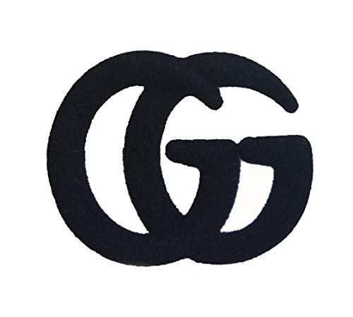 Designer Brooch Black - YIAI GG Letter Designed Metal Brooch Pin All Party Jewelry for Women (Black)