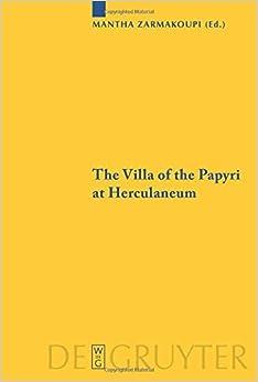 Book The Villa of the Papyri at Herculaneum (Sozomena) (2016-06-20)