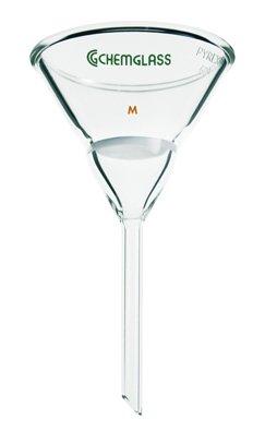 Chemglass CG-1408-04 Series CG-1408 Hirsch Filter Funnel, 50 mm Diameter Funnel Top, 20 mm Fine Frit