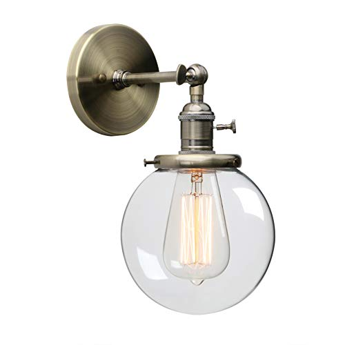 Base Compact Fluorescent Holder 2 (Phansthy Single Industrial Wall Sconce with Globe Lampshade (Bronze))