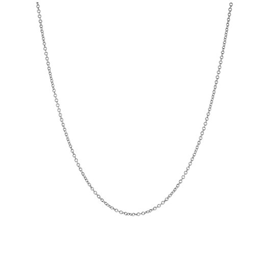 apop nyc Thin Sterling Silver Rolo Chain Necklace 18 inch [Jewelry]