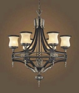 Elk Lighting 24316 6 Light Chandelier Antique BronzeDark UmberMarblized Amber