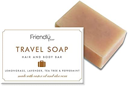 Friendly Soap Travel Bar – Hair & Body 95g (Pack of 6)