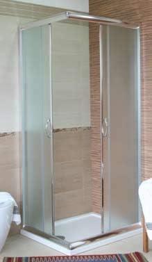 Mampara de baño de cristal mate-2 lados-tapa deslizante-75 x 75 cm ...