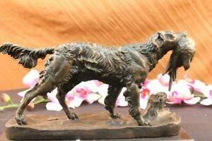 (LuxMart Labrador Retriever Bird Hunting Dog Bronze Marble Sculpture Trials Award Statue)